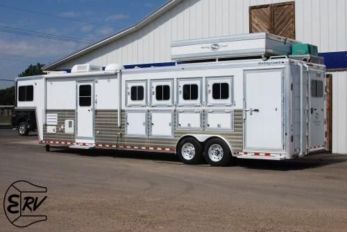 Pin by equine rv on living quarter horse trailers pinterest for Rv barn with living quarters