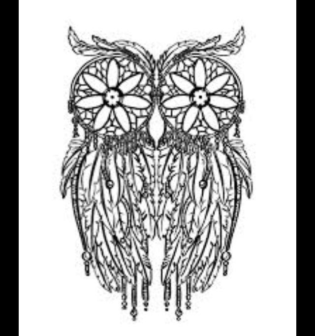 Owl dreamcatcher drawing - photo#24