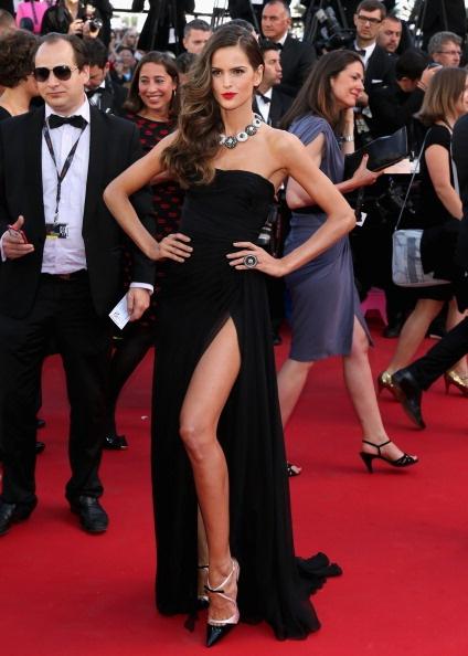 Izabel Goulart in black Emilio Pucci in Cannes 2013