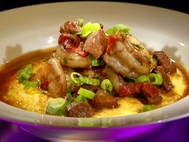 Shrimp & grits: http://www.foodnetwork.com/recipes/spicy-low-country ...