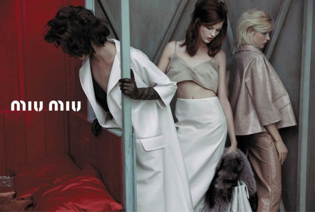 Adriana Lima  Bette Franke  Malgosia Bela and Others Front the Miu Miu    Bette Franke Miu Miu