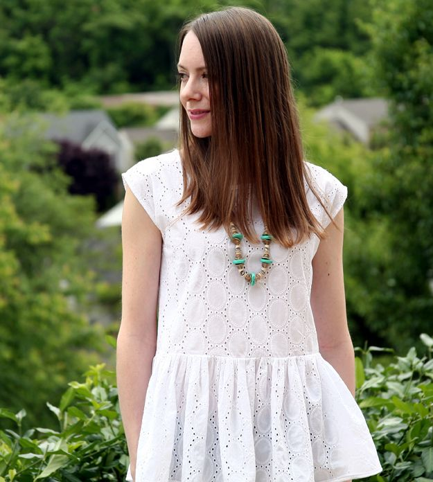 Caught On A Whim: Sewn: A Simple Peplum Top