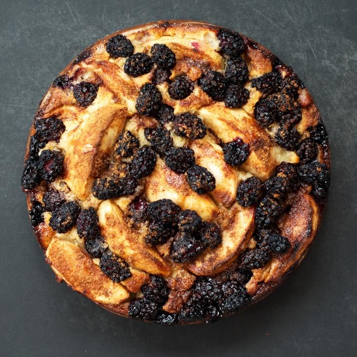 Apple-Blackberry Cake via @thegingercook