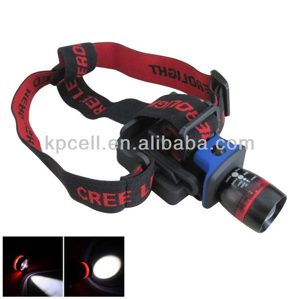 Zoomable Clip-on Cap Hat LED Headlamp advanced head torch $2.5~$3