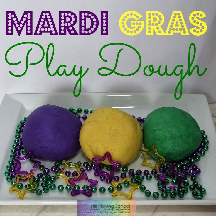Mardi Gras Play Dough from Still Playing School