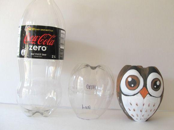 Búho con botellas de coca-cola :-)