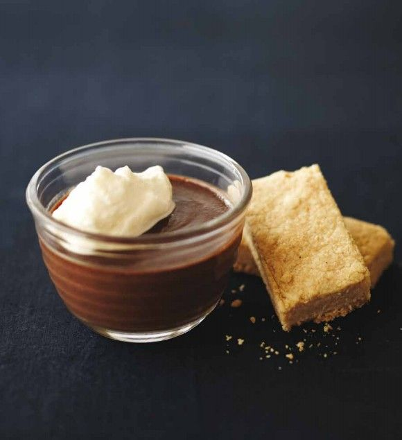 Chocolate mocha pots with cinnamon shortbread from Peter Gordon ...