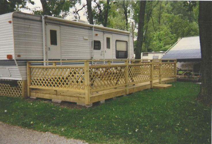 Camper Deck Camping Pinterest