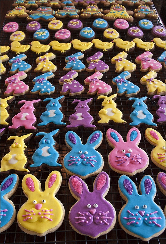 Nice Easter bunnies | Cookies - decorating | Pinterest