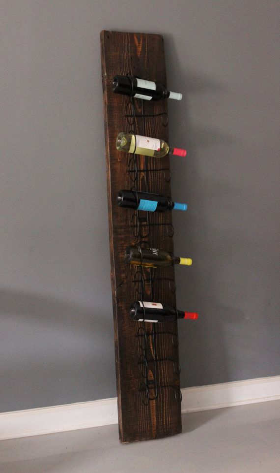 Urban wood wine rack floor standing or wall mounted for Floor wine rack