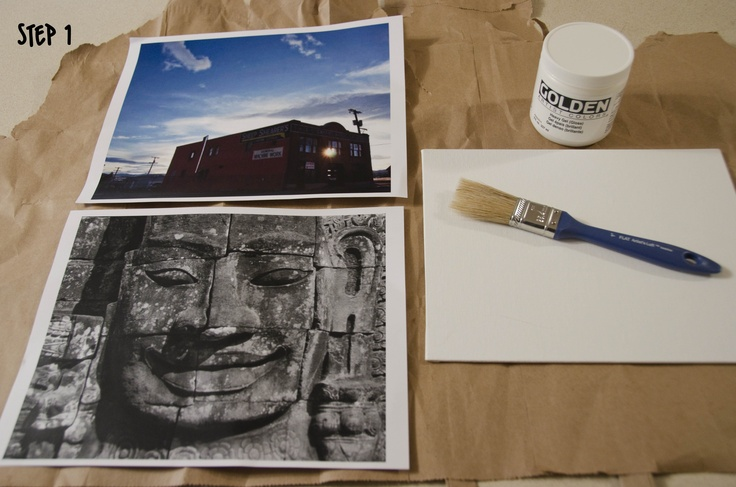 Picture transfer to canvas