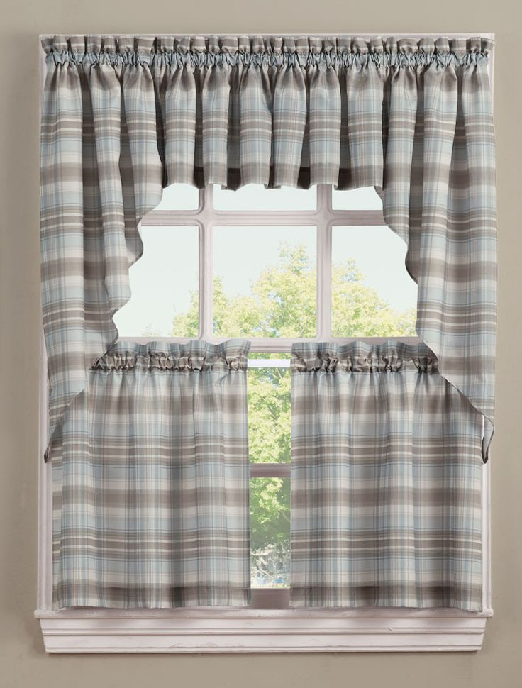 ... kitchen decor with the stylish plaid Curtains. #Sheer #Kitchen #