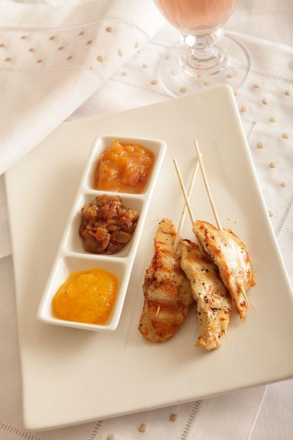 Mango Sauce, Onion Chutney & Plum Chutney