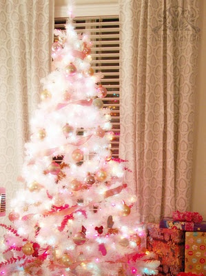 Pink and white christmas tree christmas sparkle pinterest