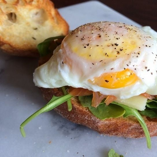 RECIPE - Open Faced Egg Sandwich | My home cafe | Pinterest
