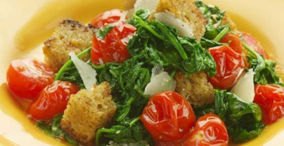 Warm Arugula Bread Salad Recipe