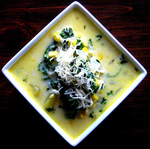 Karis' Kitchen: Corn, Kale & Potato Chowder