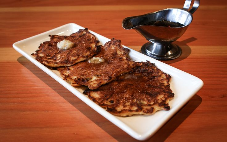 Cakes: Jalapeno cornbread cakes with #WildFinGrill Rooftop honey maple ...