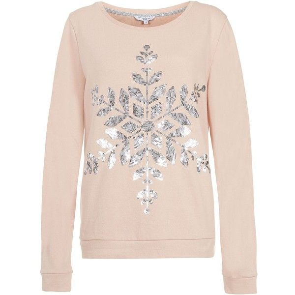 The pressie sequin Christmas jumper is a chic take on a festive classic. With a rose gold sequin bow design, this piece of knitwear certainly sparkles. The pressie sequin Christmas jumper is a chic take on a festive classic. With a rose gold sequin bow design, this piece of knitwear certainly sparkles.