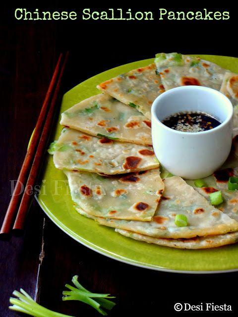Chinese Scallion Pancakes | Chinese Cuisine-Veggies, Tofu, Etc. | Pin ...