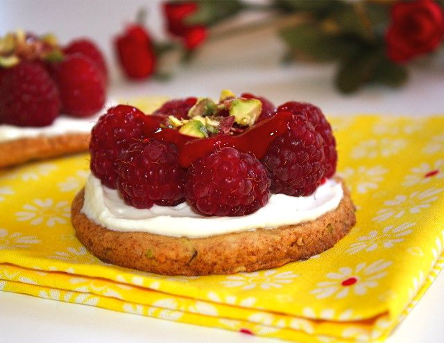 ... dressed with mascarpone cream, raspberries and raspberry coulis. xoxo