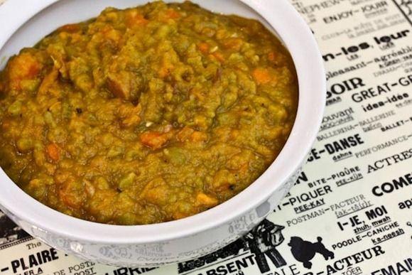 Split Pea and Sweet Potato Soup | FOOD! | Pinterest