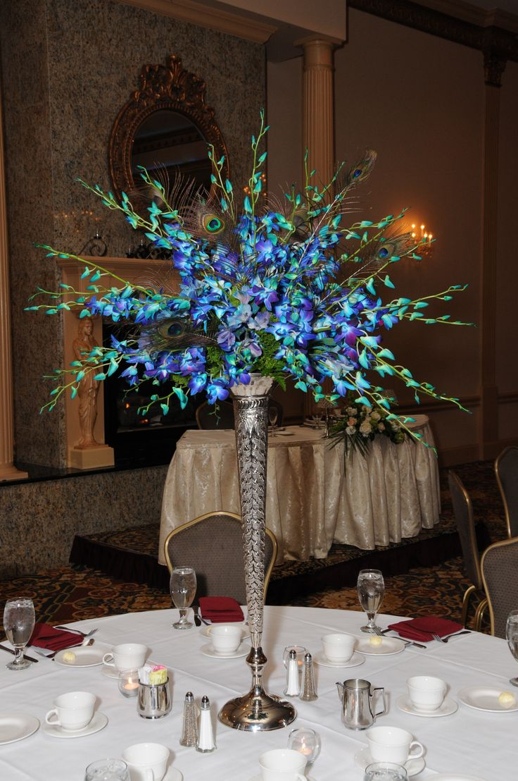 Blue centerpiece orchid pinterest