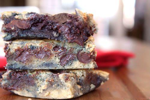 Grain Free Chocolate Cherry Blondies Recipe photo