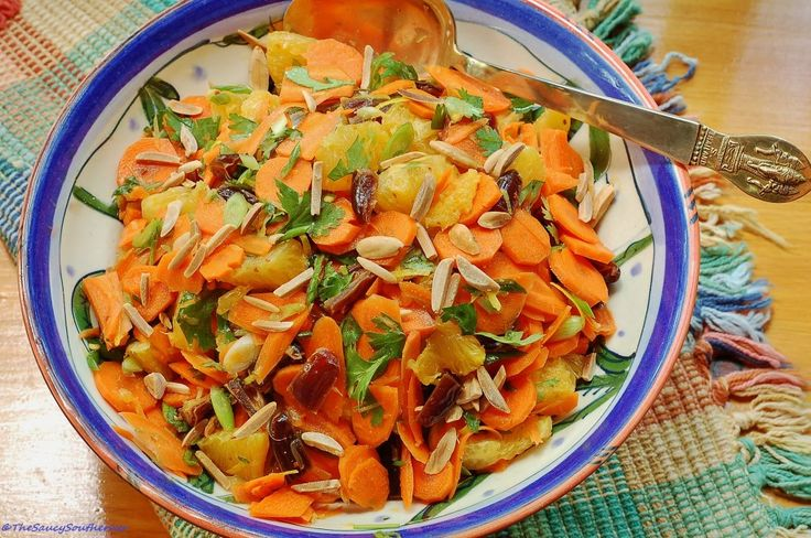 Moroccan Carrot Salad with Oranges Dates and Almonds (Meatless Monday ...