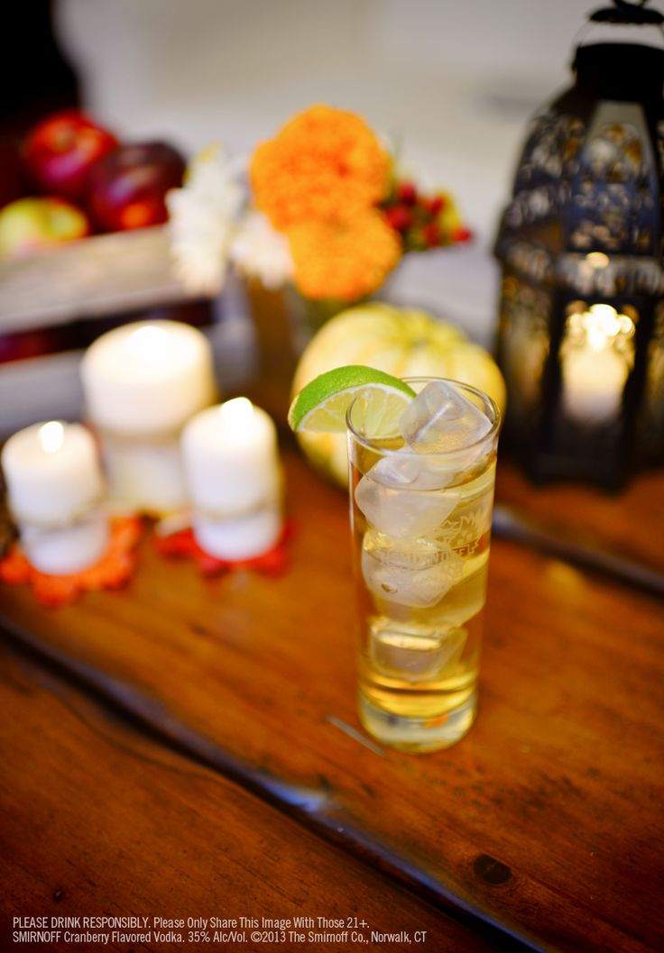 Vodka & Ginger Ale 1.5 oz SMIRNOFF® Cranberry Flavored Vodka ...