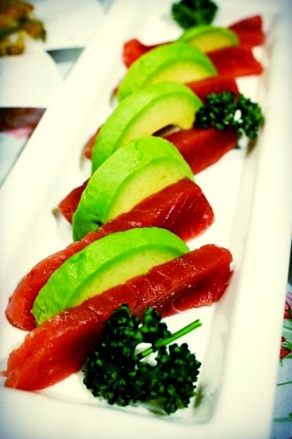 Avocado tuna sashimi a great snack! #food