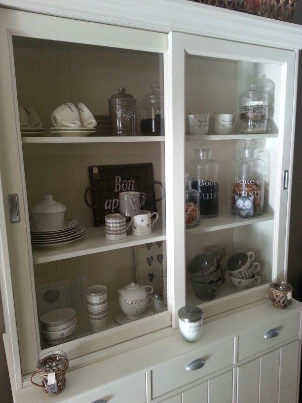 Landelijke witte buffetkast  Kitchens  Pinterest