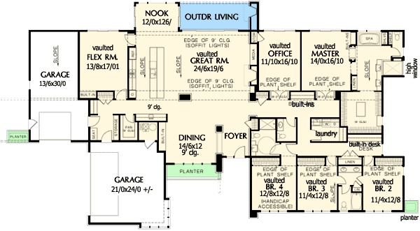 Stunning contemporary ranch home plan for Contemporary ranch house plans