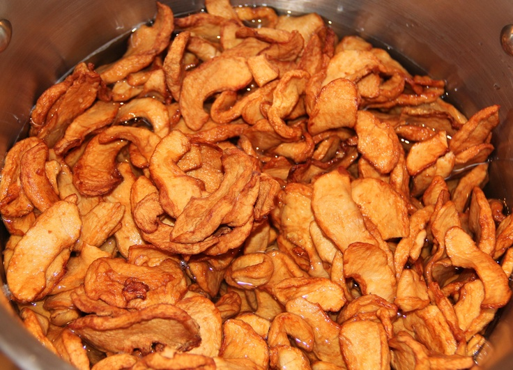 Dried apples make the best fried apple pie.