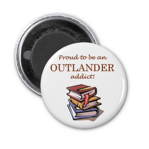 """OUTLANDER Addict"" magnet. For more OUTLANDER-related products, visit http://www.zazzle.com/OutlandishObserv*/gifts"
