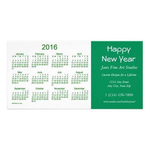 2016 Business Calendar by Janz Happy New Year Card