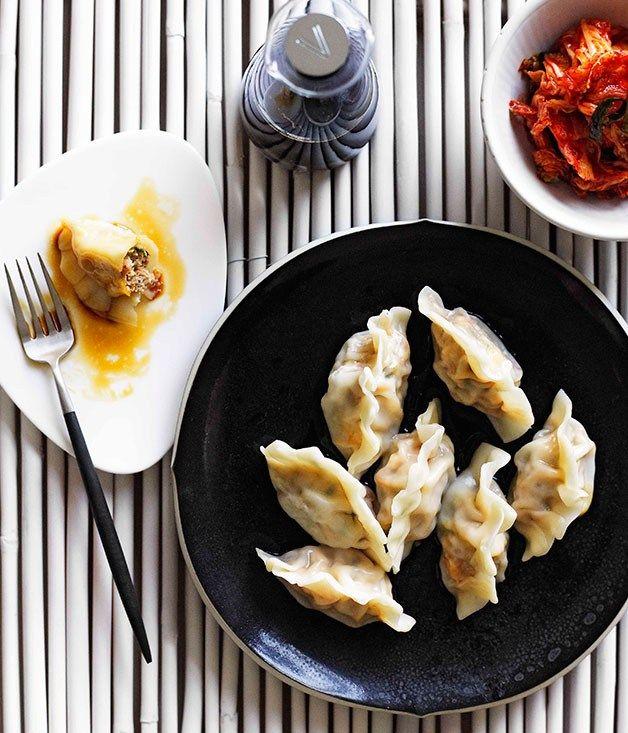 Mandu - Gourmet Traveller. Pork, tofu, kimchi dumplings.