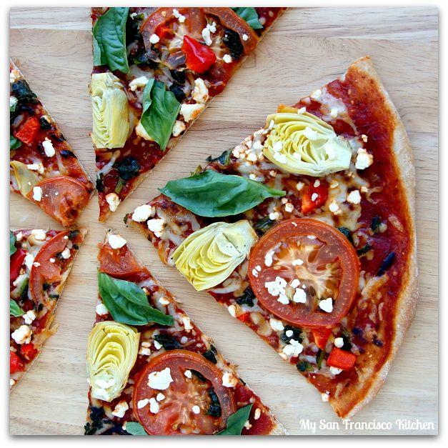 Whole Wheat Vegetarian Pizza | Healthy Eats | Pinterest