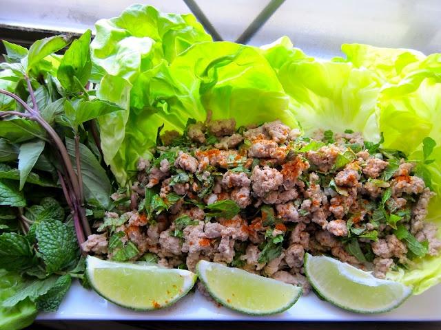 Crazy Radishes: Thai Chicken Lettuce Wraps a.k.a. Larb Gai