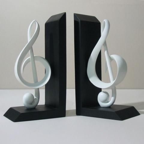 Music note bookends things i love on pinterest - Treble clef bookends ...
