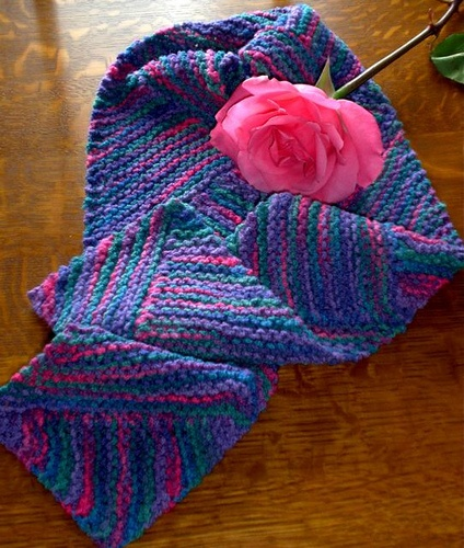 Free Knitting Pattern For Short Row Scarf : Short row scarf. Knitting Passions Pinterest