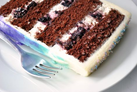 Buttermilk Chocolate Cake with Mascarpone-Blackberry Filling and ...