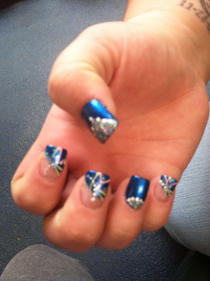 pretty blue nails cool nails pinterest