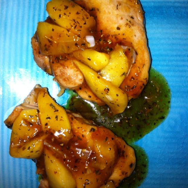 Pork chops with apple ginger chutney | Favorite Home Meals | Pinterest
