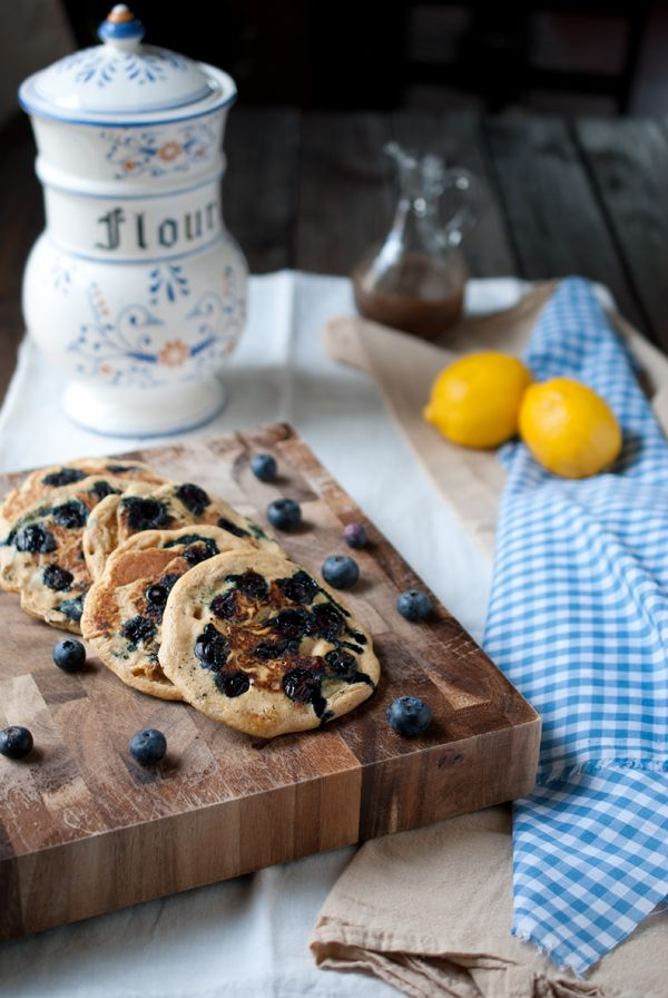 Whole wheat pancakes filled with bursting blueberries and hints of ...