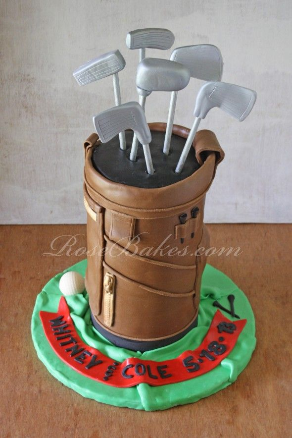 Golf Bag Cake Images : Pin Golf Bag Diaper Cake Baby Shower Gift Centerpiece Cake ...