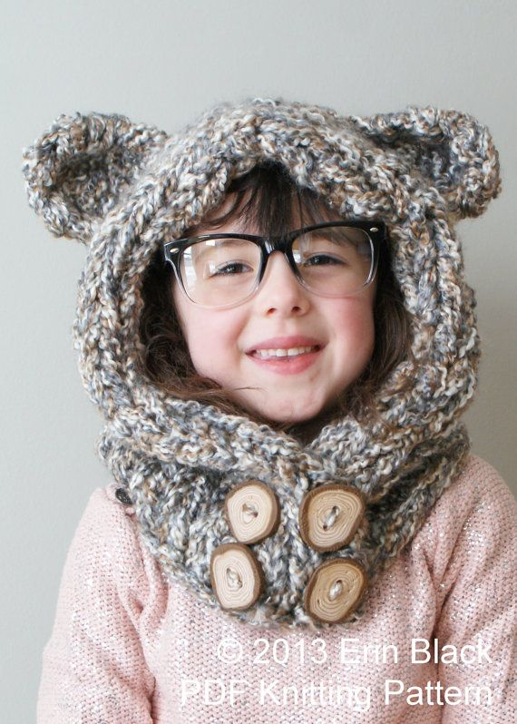 Bear Hood Knitting Pattern : Pinterest: Discover and save creative ideas
