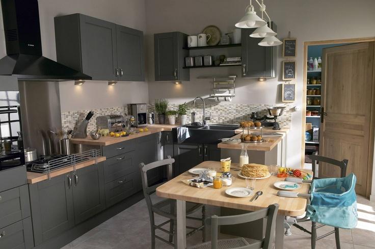 Chambre Bebe Fille Gris Et Mauve : Une cuisine familiale et moderne  Cuisine  Pinterest