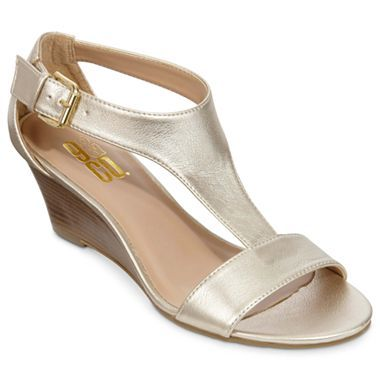Co. O Malley T-Strap Wedge Sandals - jcpenney