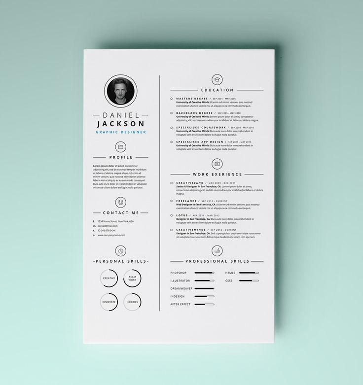 cool resume design lifestyle